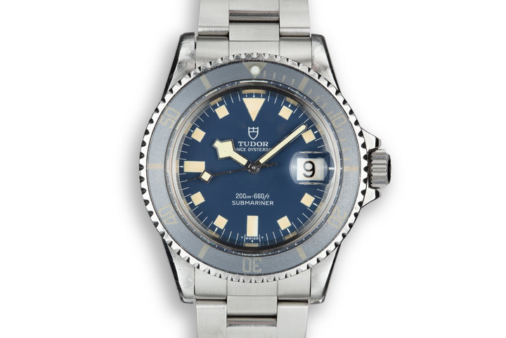 1976 Tudor Snowflake Submariner 9411/0 Blue Dial with Service Papers photo