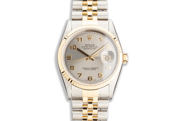 2000 Rolex Two-Tone DateJust 16233 Silver Dial with Service Card photo