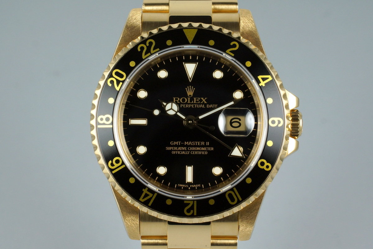 1994 Rolex YG GMT II 16718 with Box and Papers photo, #0