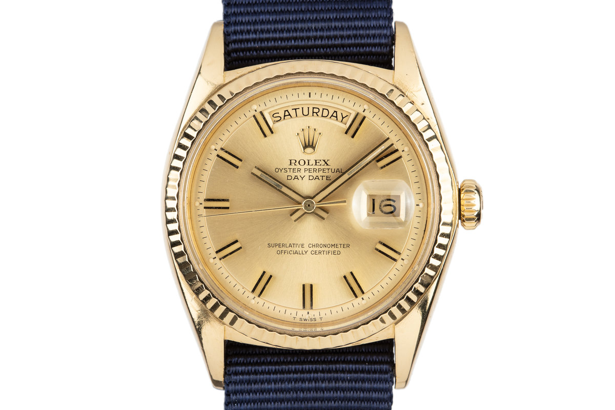"1970 Rolex 18K YG Day-Date 1803 with ""Wideboy"" Dial photo, #0"