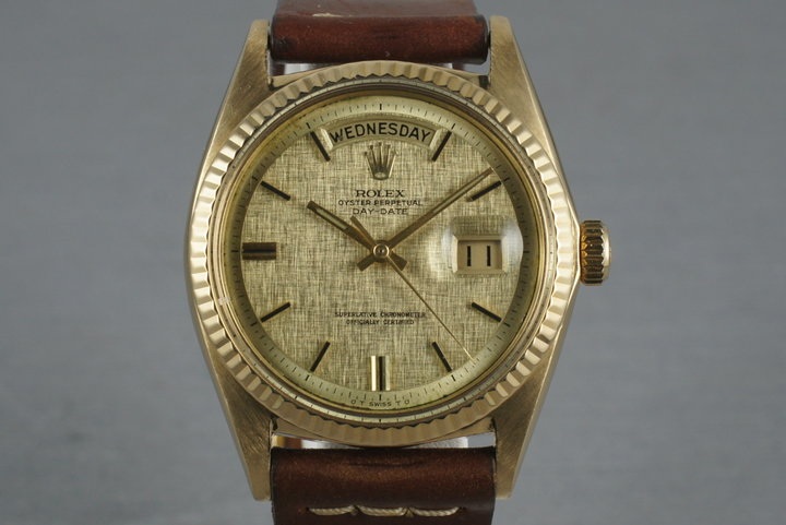 Rolex Vintage 18K YG President: 1803 with Linen Dial photo