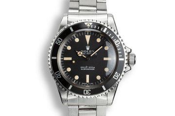 1971 Rolex Submariner 5513 Serif Dial photo