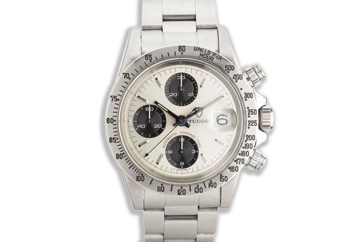 "1978 Tudor Chronograph Big Block 9430/0 ""Solo Dial"" Silver & Black photo"