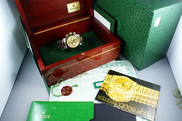 Rolex 18K/SS Zenith Daytona 16523  Box and Papers photo