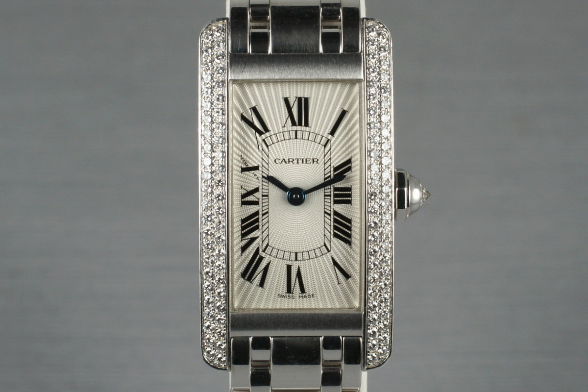 Cartier Ladies White Gold Tank Americaine WB7018L1 with Box and Service Papers photo, #0