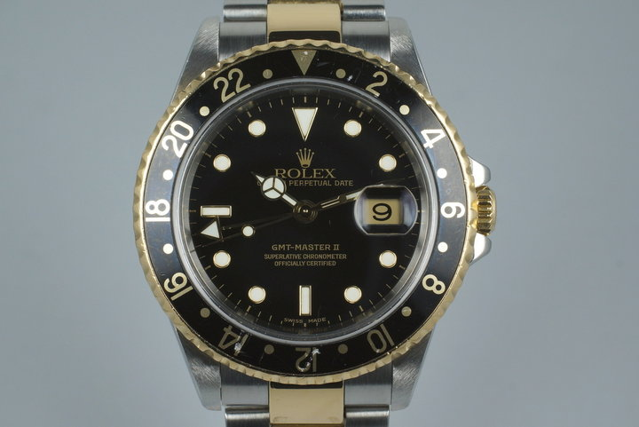 2002 Rolex Two Tone GMT Master II 16713 photo