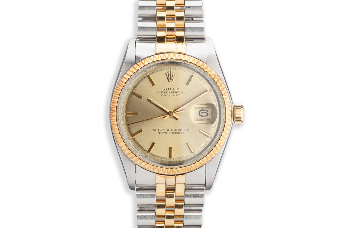 1974 Vintage Rolex DateJust 1601 Gold Dial photo, #0