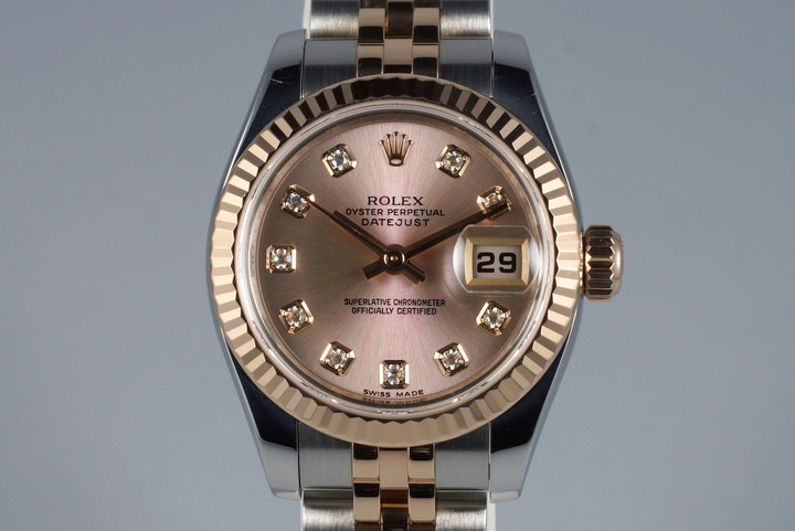 2009 Rolex Ladies Two Tone DateJust 179171 Factory Diamond Rose Dial with Papers photo