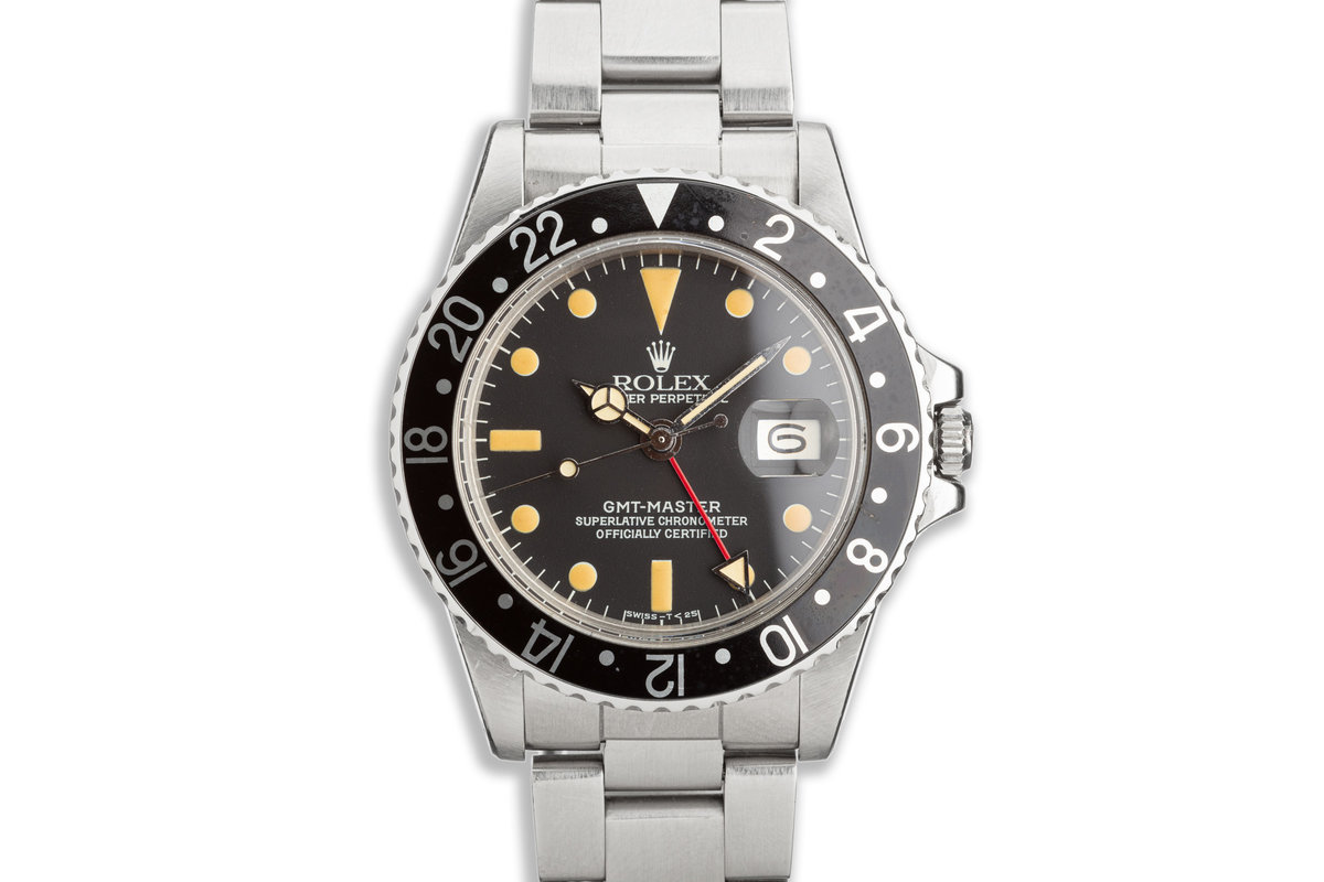 1979 Vintage Rolex GMT-Master 1675 Black Bezel photo, #0