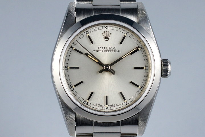 1995 Rolex MidSize Oyster Perpetual 67480 Silver Dial photo