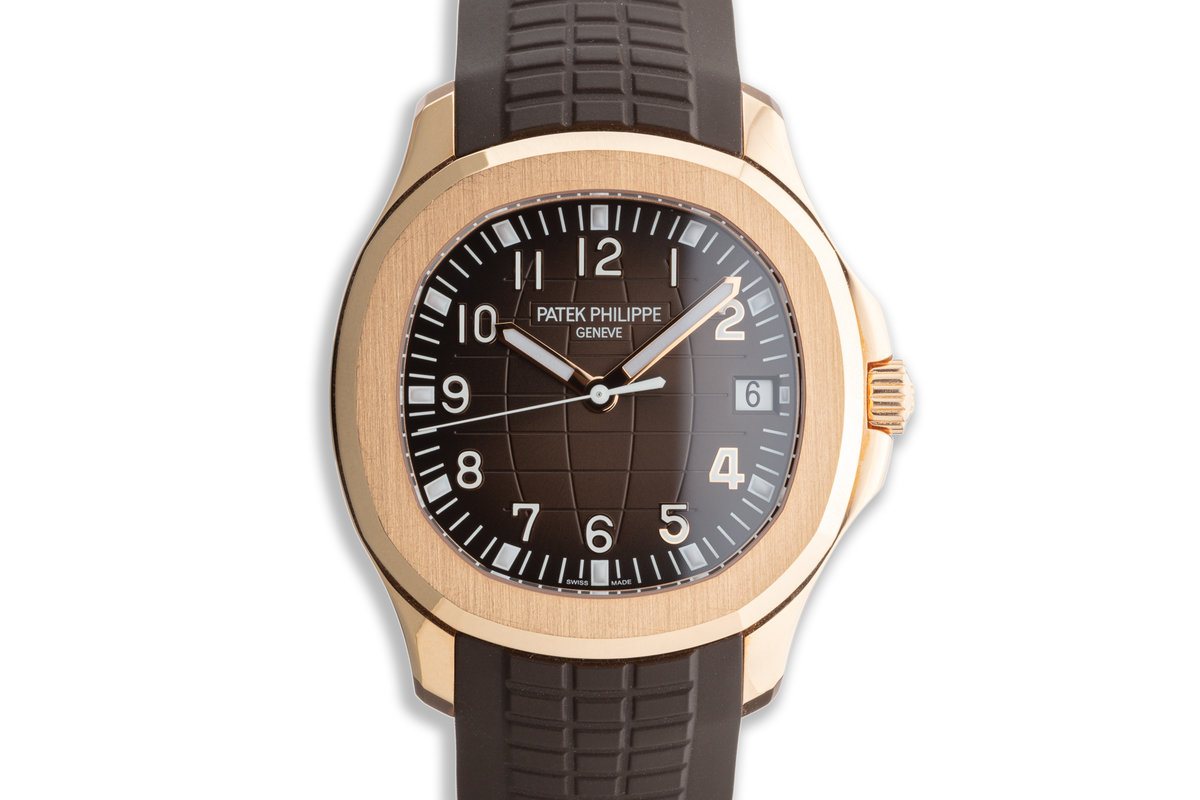 2019 Patek Philippe 18K Rose Gold Aquanaut 5167R-001 with Box and Papers photo, #0
