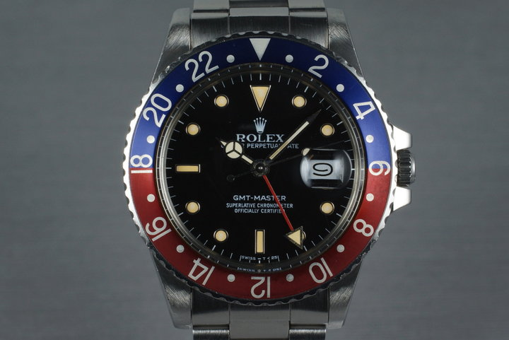 1986 Rolex GMT 16750 with Japanese Service Papers. photo