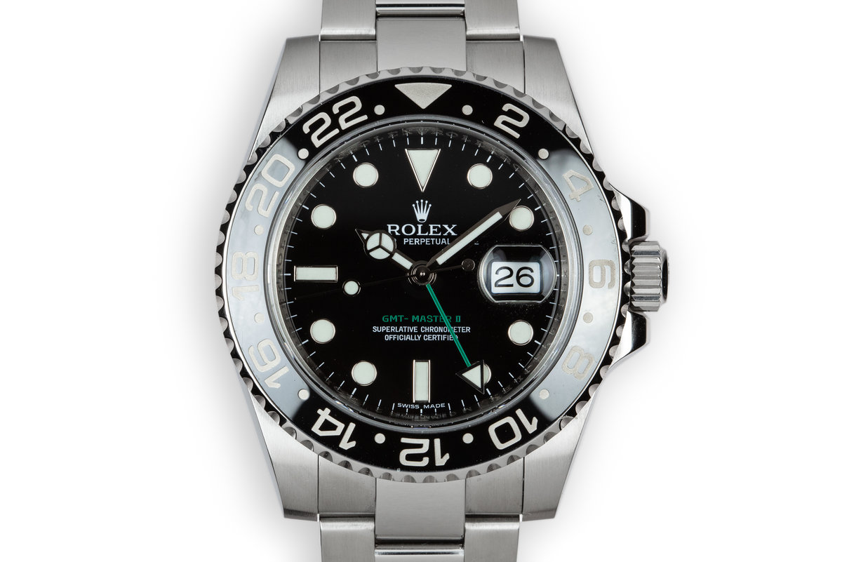 2007 Rolex Ceramic GMT-Master II 116710LN Black Bezel photo, #0