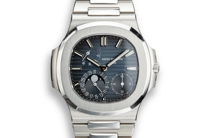 2014 Patek Philippe Nautilus 5712 /1A Blue Dial with Box and Papers photo