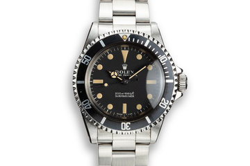1967 Rolex Submariner 5513 Meters First Dial photo
