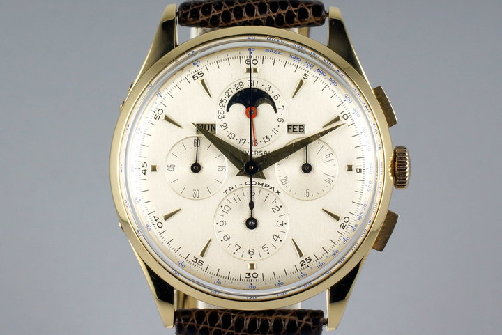 Vintage YG Universal Geneve Tri-Compax 57278 Triple Date Moonphase with Service Papers photo