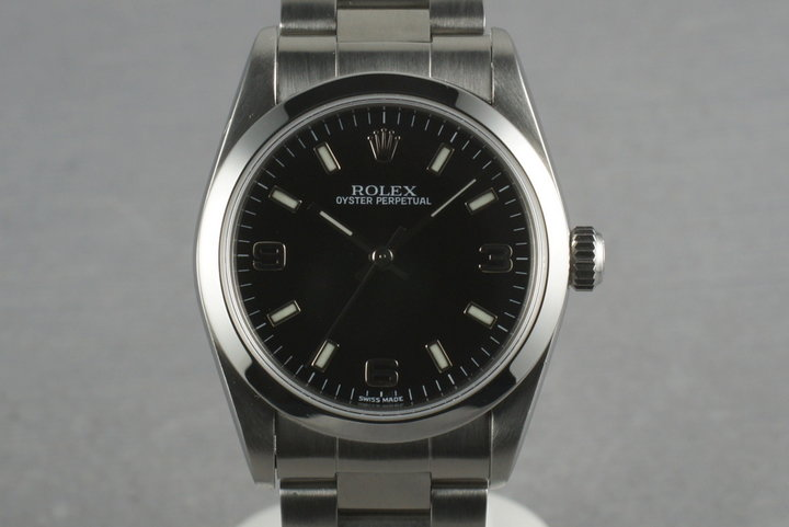 Rolex Midsize Datejust  77080 with Black Explorer Dial photo