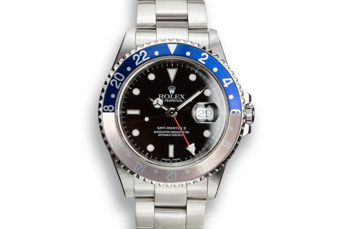 """2000 Rolex GMT-Master 16710 """"Pepsi"""" photo, #0"""