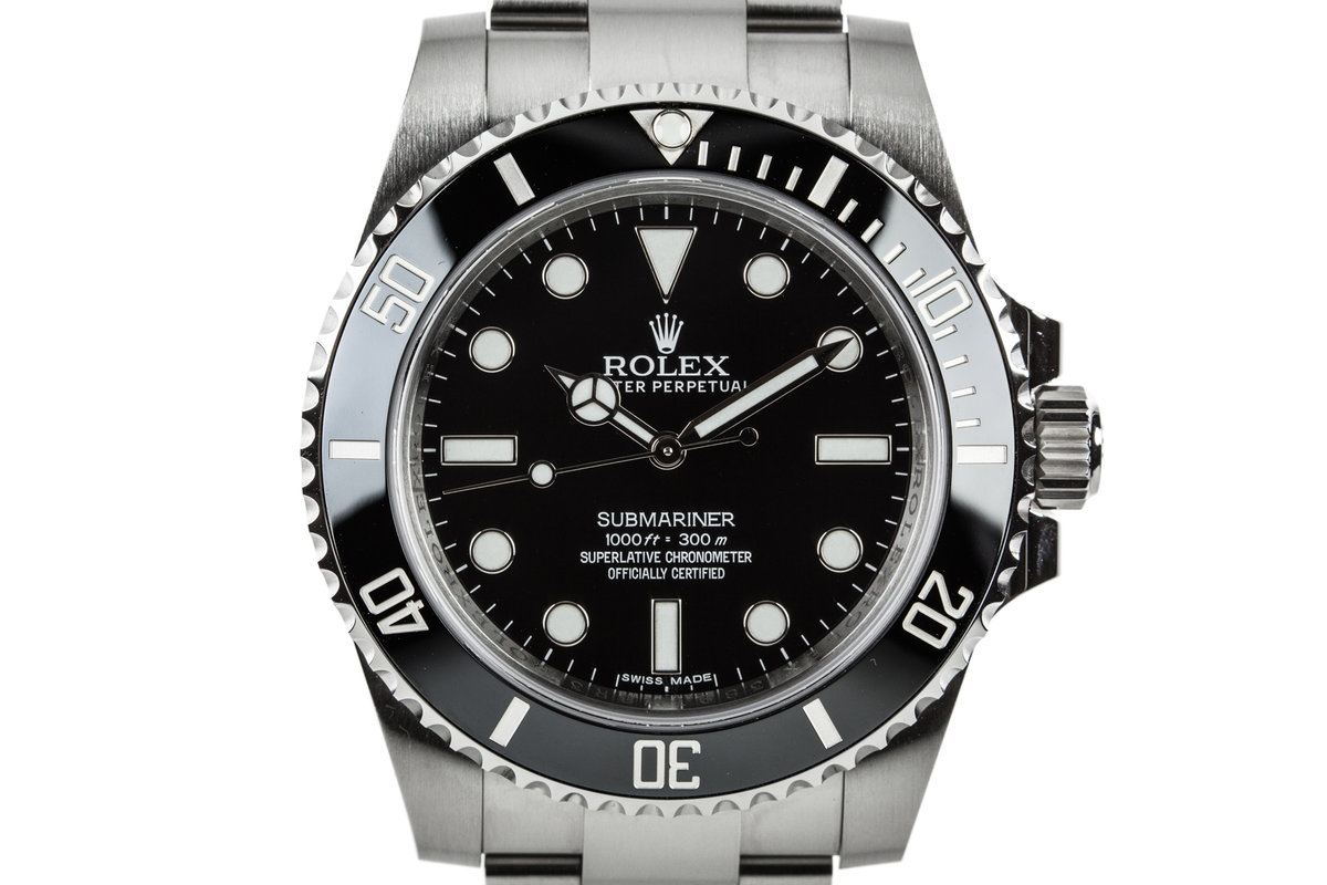 2015 Rolex Submariner 114060 with Box and Papers photo, #0