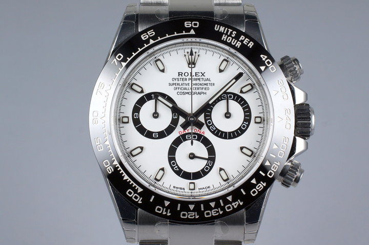 2016 Rolex Ceramic Daytona 116500LN White Dial with Box and Papers MINT photo