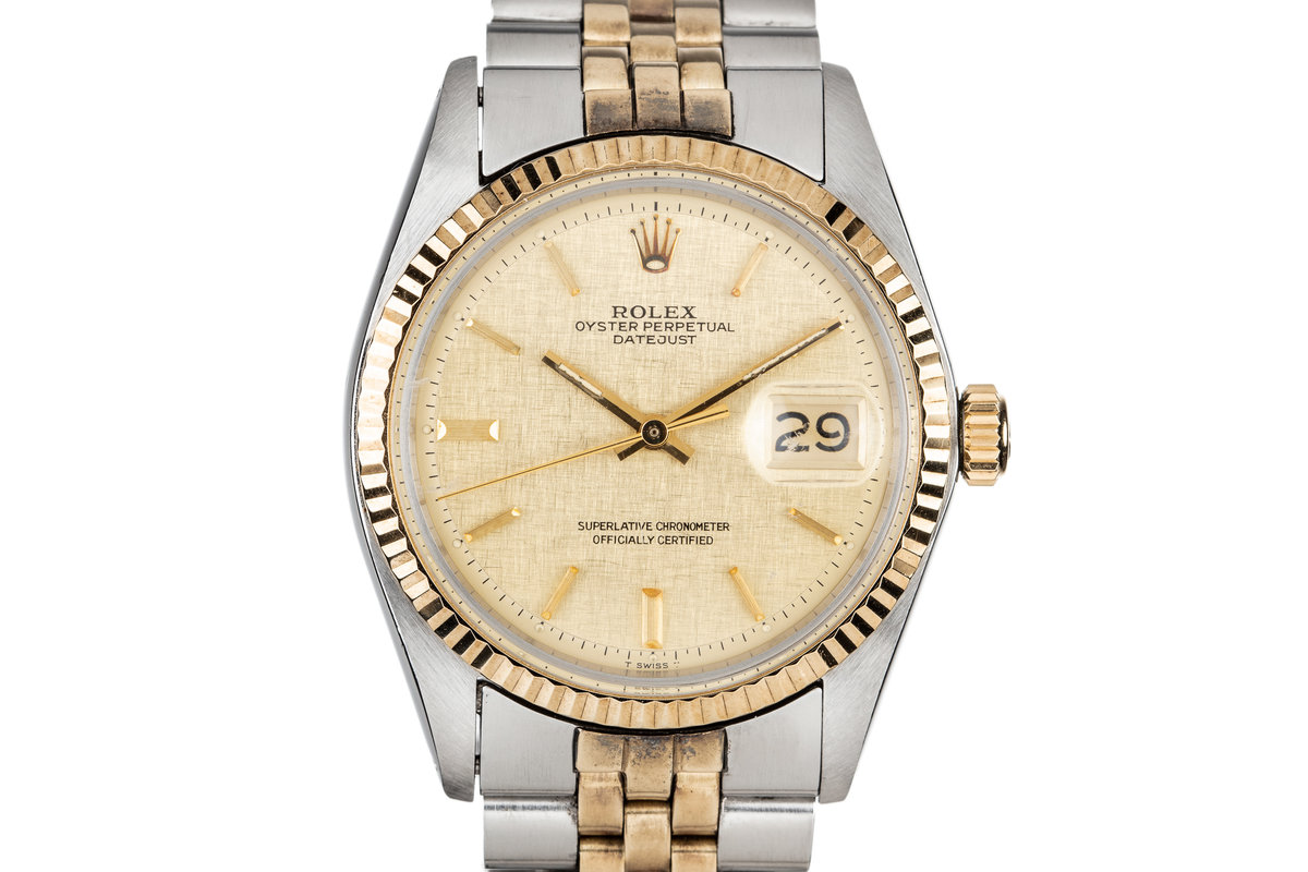 1972 Rolex Two Tone DateJust 1601 With Linen Dial photo, #0