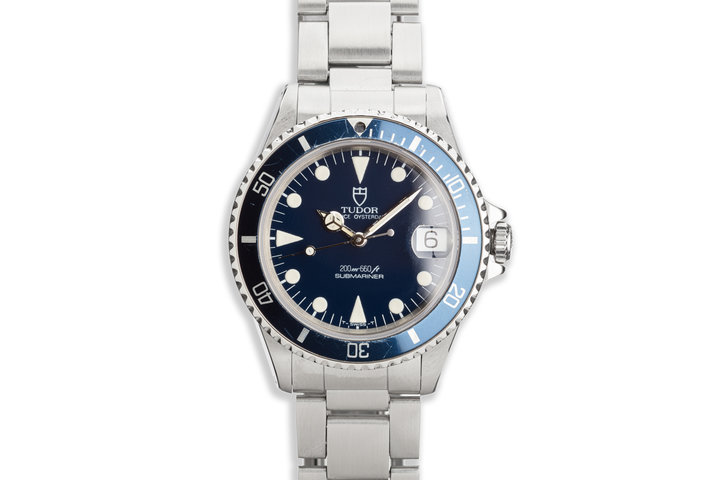 1992 Tudor Blue Submariner 75090 36mm photo