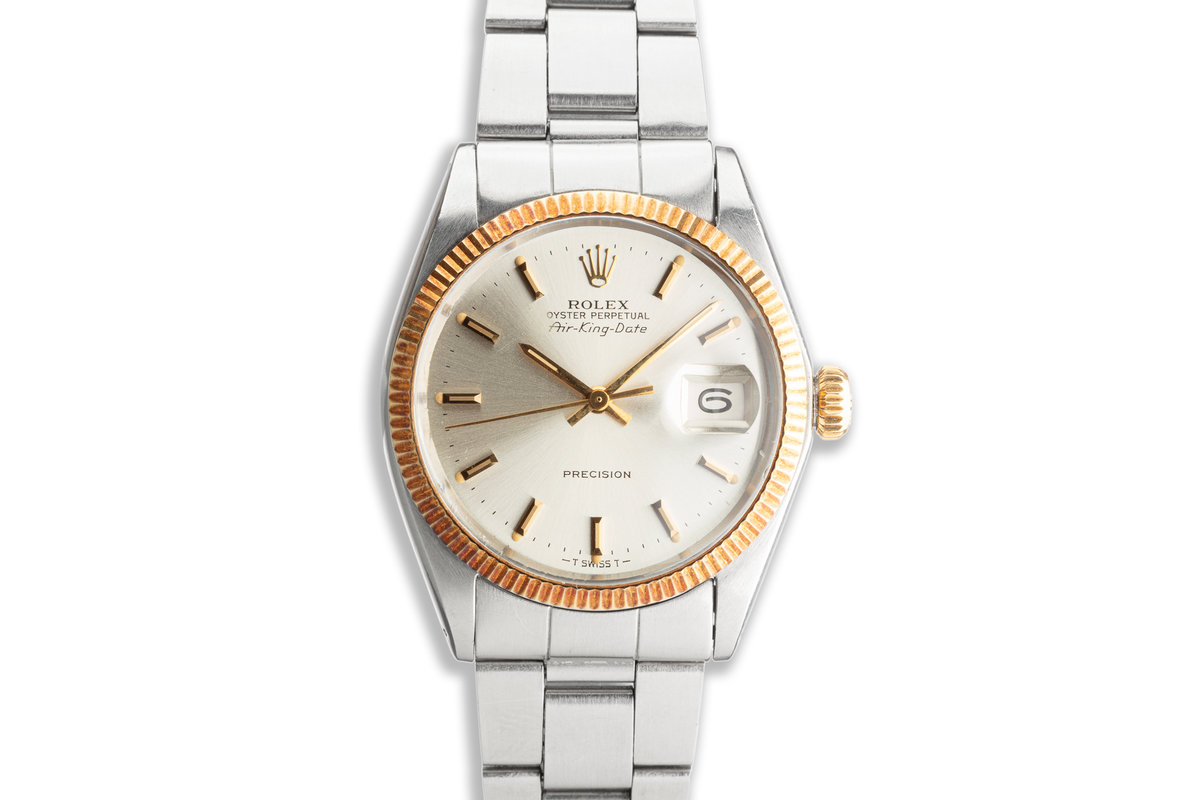 1972 Vintage Rolex Two Tone Air-King-Date 5701 Coca- Cola Award Watch Box & Papers photo, #0