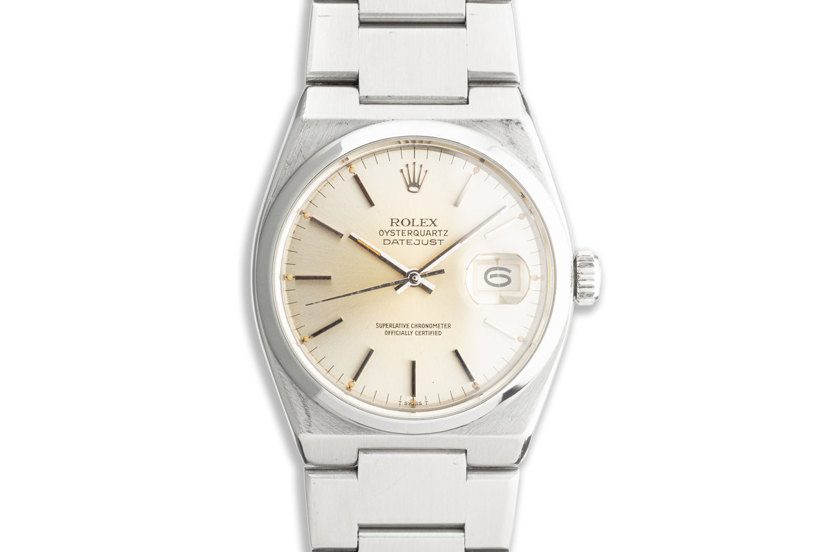 1981 Rolex OysterQuartz DateJust 17000 Silver Dial photo, #0