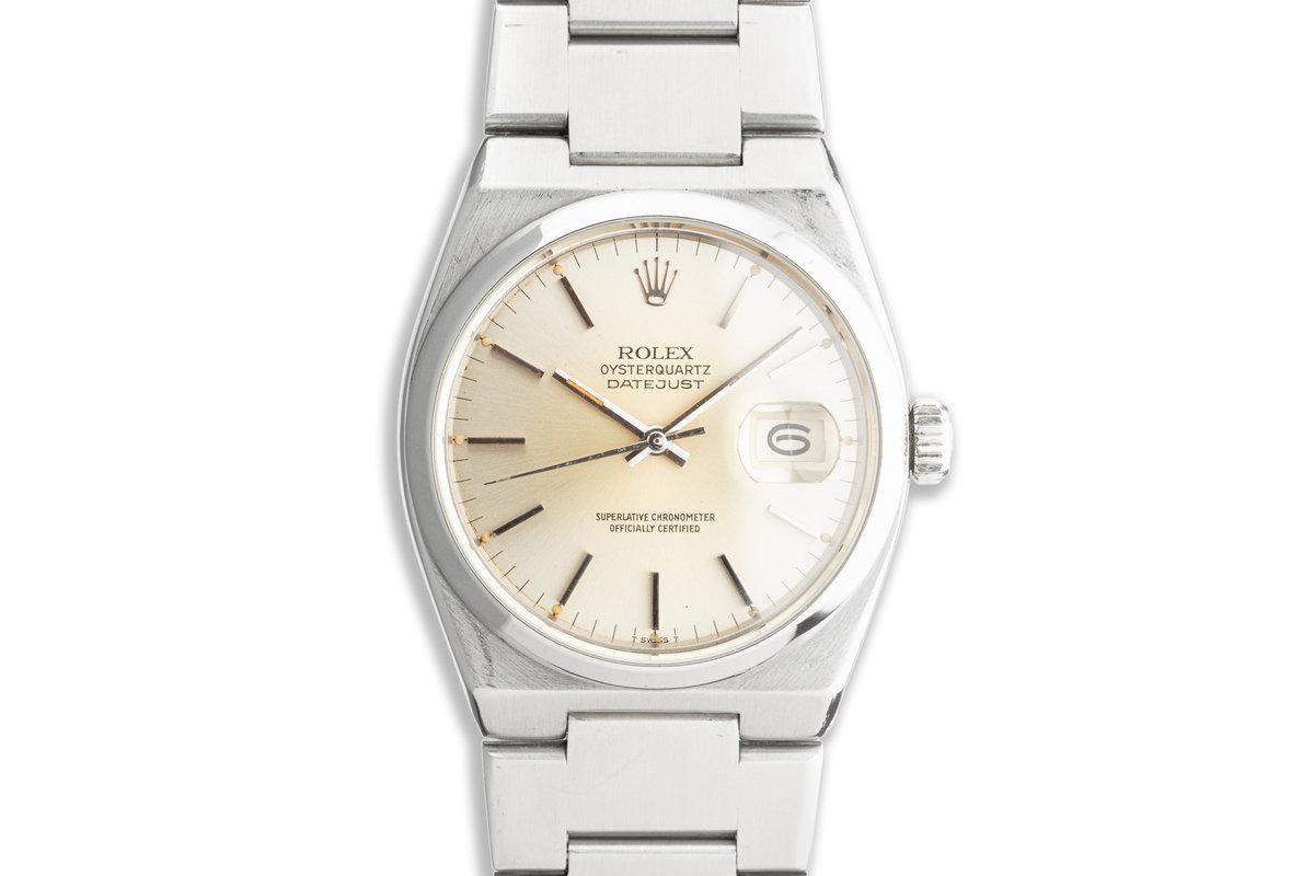 1981 Rolex OysterQuartz DateJust 17000 Silver Dial photo, #0