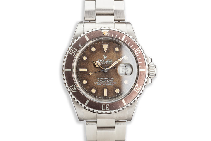 1986 Vintage Rolex Submariner 16800 Tropical Dial photo