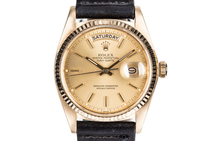1980 Rolex 18K YG Day-Date18038 with Hang Tags photo