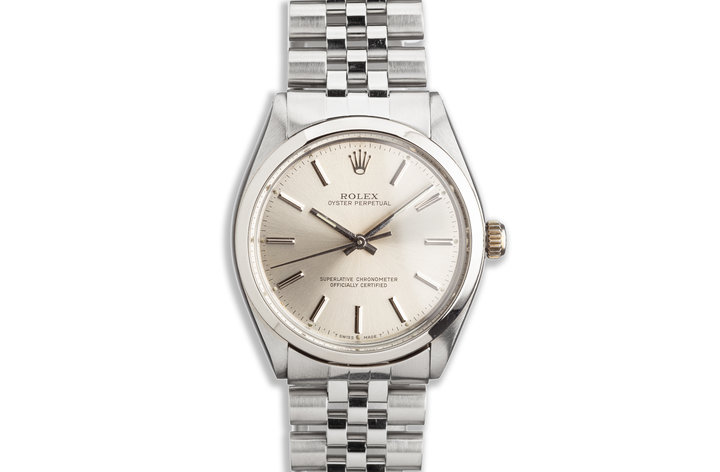 1987 Vintage Rolex Oyster Perpetual Silver Dial photo