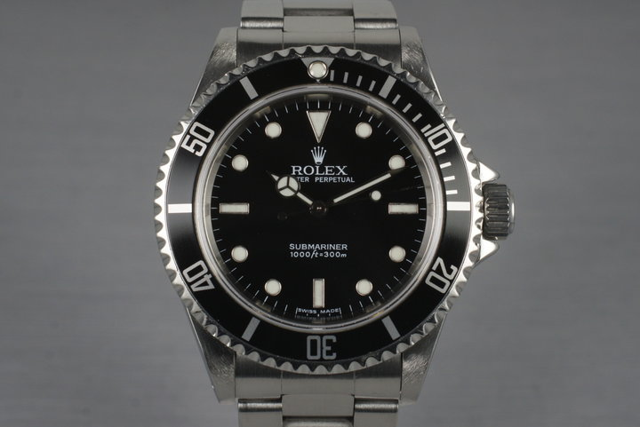 2003 Rolex Submariner 14060M with Box and Receipt photo