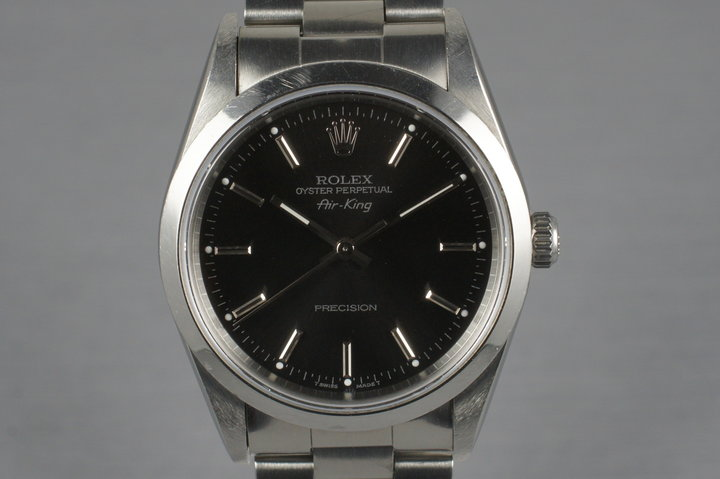 1997 Rolex Air King 14000 Black Dial with Box and Papers photo