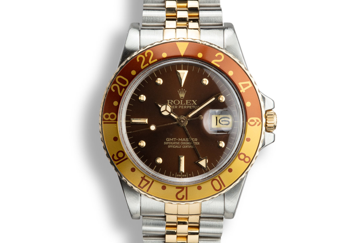 1979 Rolex Two-Tone GMT-Master 16753 with Root Beer Nipple Dial photo, #0