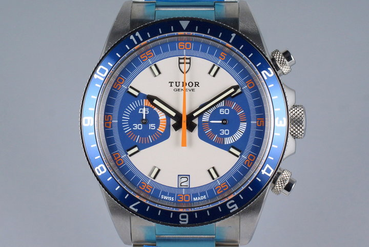 2014 Tudor Heritage Chrono 70330 with Box and Papers MINT photo
