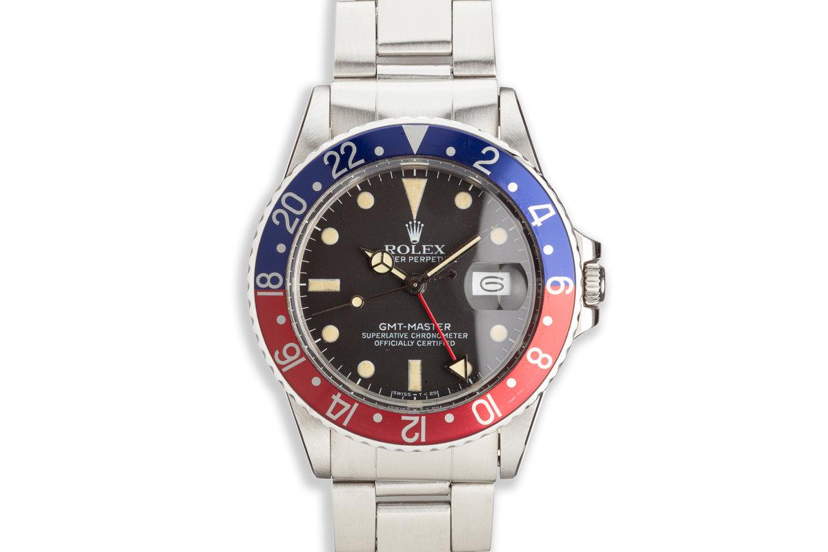 "1982 Vintage Rolex GMT-Master 16750 ""Pepsi"" Matte Dial photo, #0"