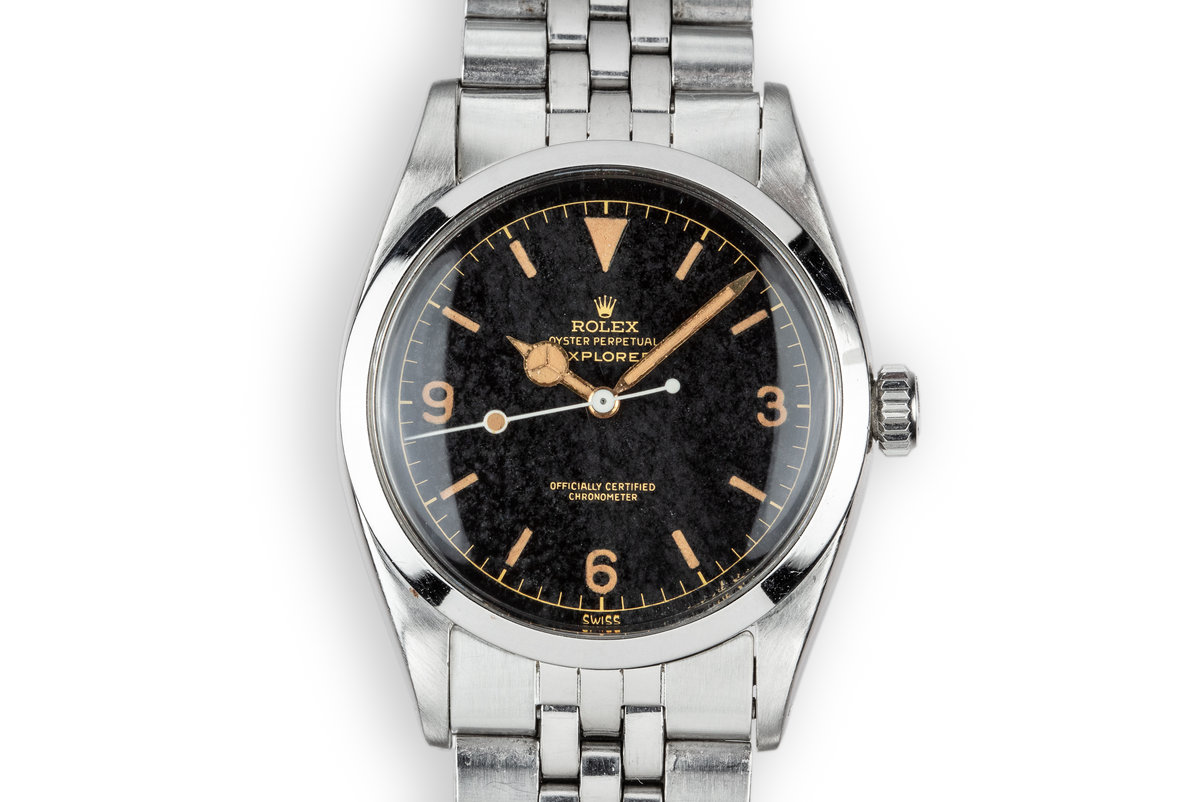 "1958 Rolex Explorer 6610 Gilt Dial with ""Night Sky"" Patina photo, #0"