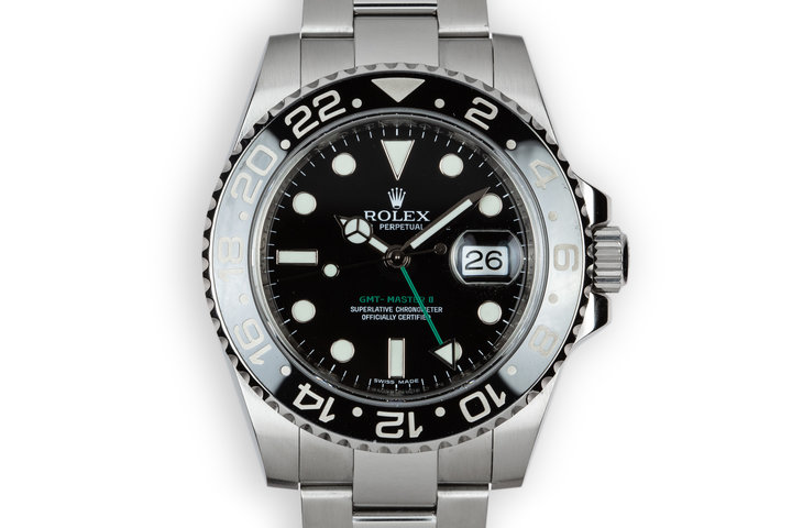 2007 Rolex Ceramic GMT-Master II 116710LN Black Bezel photo