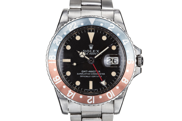 """1968 Rolex GMT-Master 1675 """"Pepsi"""" with MK 1 Dial photo"""