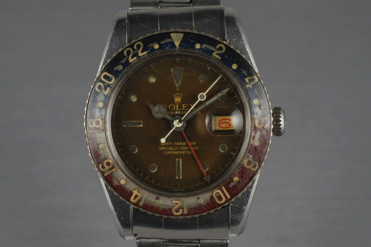 1958 Rolex GMT 6542 with tropical brown dial and bakelite insert photo, #0