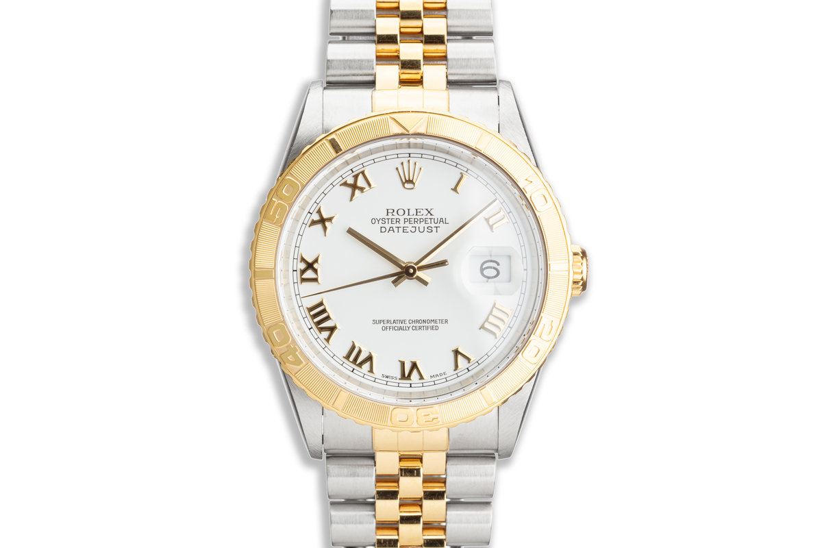 """1991 Rolex Two-Tone DateJust """"Thunderbird"""" 16263 with Box & Papers And Service Papers photo, #0"""