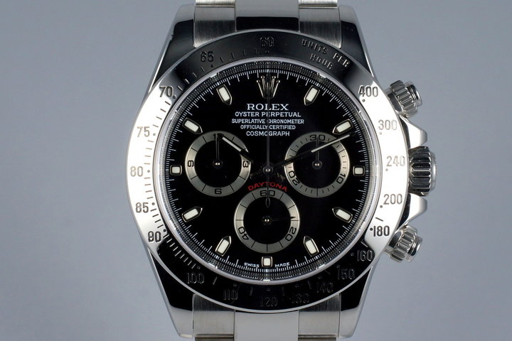2002 Rolex Daytona 116520 Black Dial with Box and Papers photo