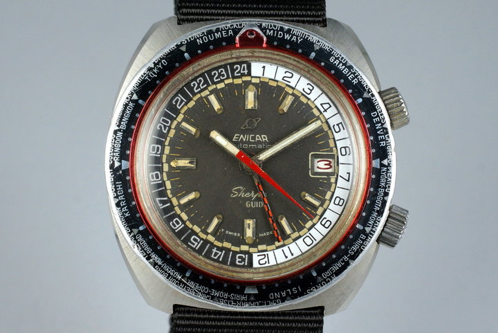 1970's Enicar Sherpa Guide GMT 600 photo