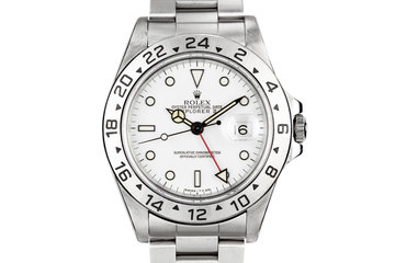 1995 Rolex Explorer II 16570 White Dial photo