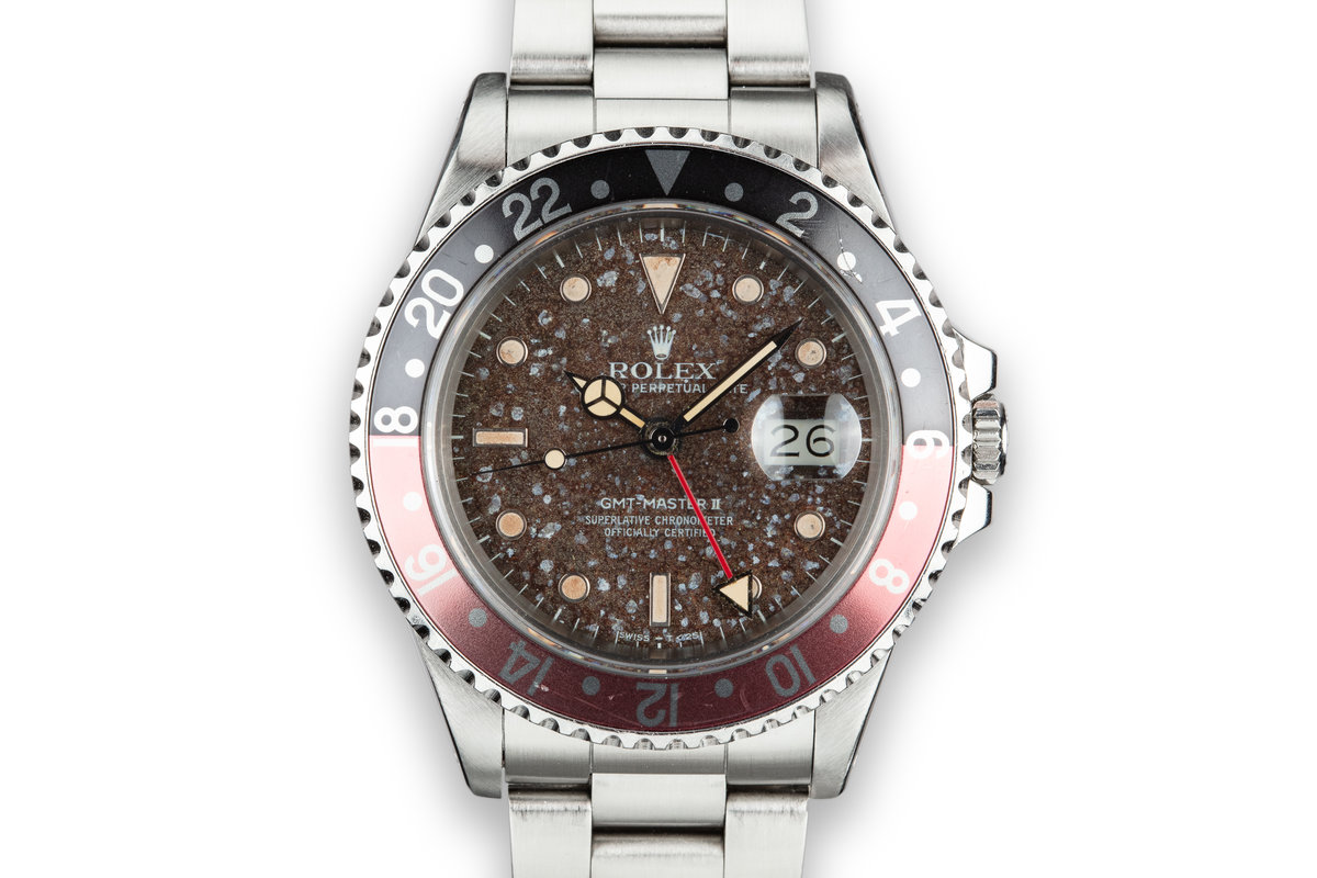 """1985 Rolex GMT-Master II 16760 """"Fat Lady"""" with """"Martian Soil"""" Dial photo, #0"""