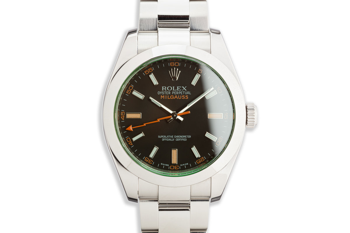 2009 Rolex Milgauss 116400GV with Box and Card photo, #0