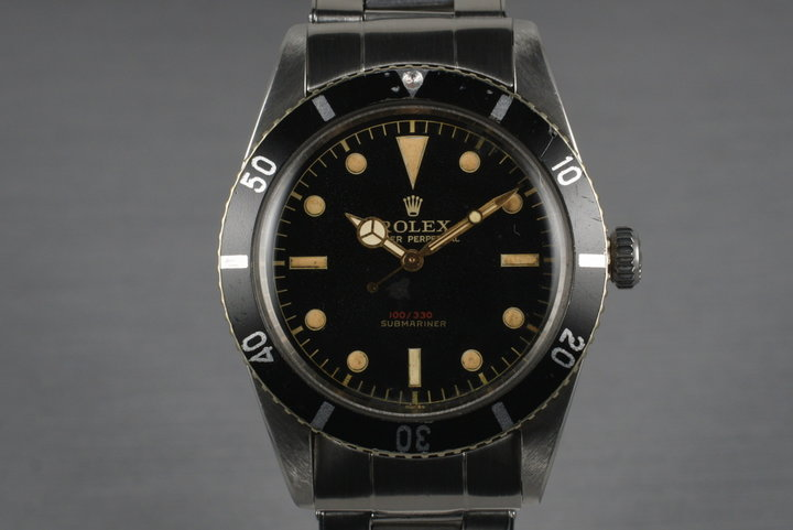 1955 Rolex Submariner 6536-1 with Red Depth Rating photo