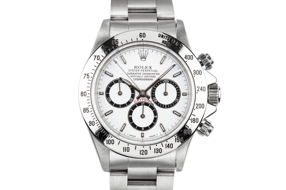 1991 Rolex Zenith Daytona 16520 with Inverted 6 White Dial photo, #0
