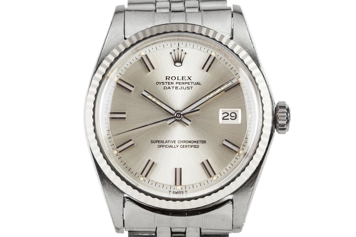 "1970 Rolex DayJust 1601 Silver ""Wideboy"" Dial photo, #0"